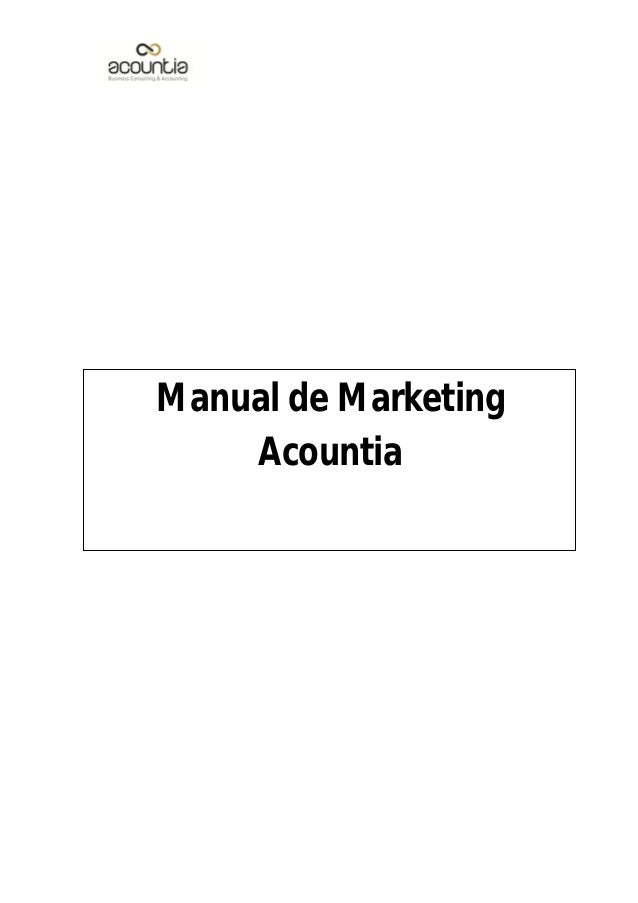 Manual de Marketing  Acountia