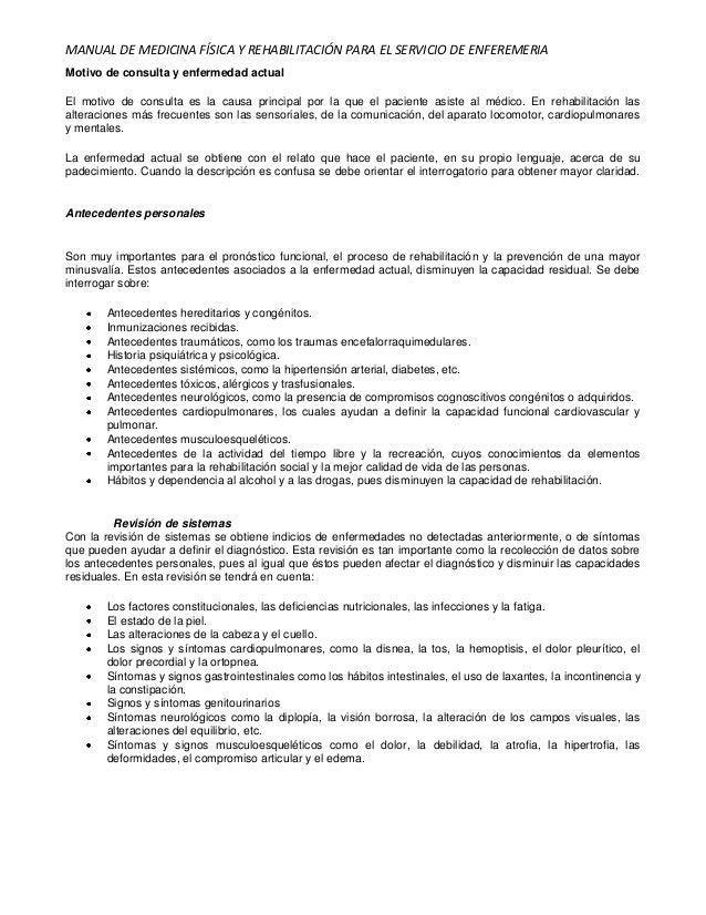 Manual de medicina fisica y rehabilitación para enfermería