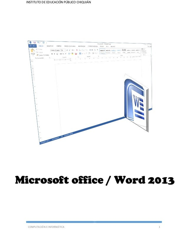 Manual de microsoft office word 2013