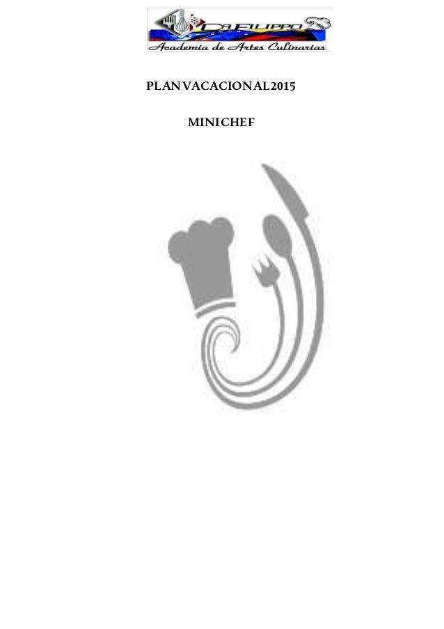 Manual de Mini Chef