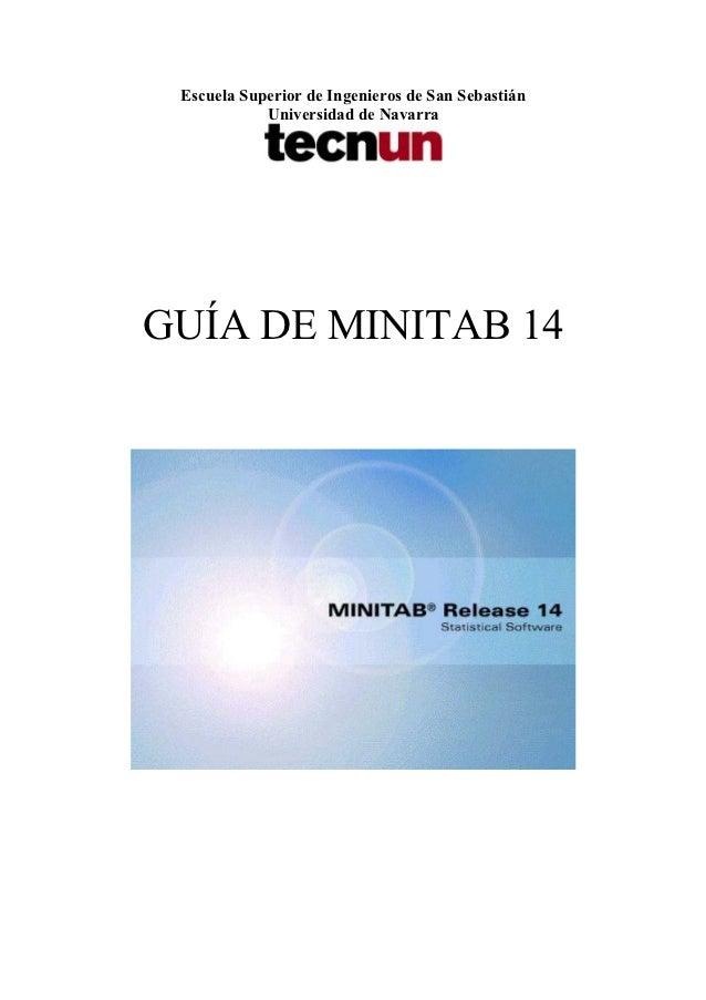 Manualde minitab - Escuela superior de arquitectura de san sebastian ...