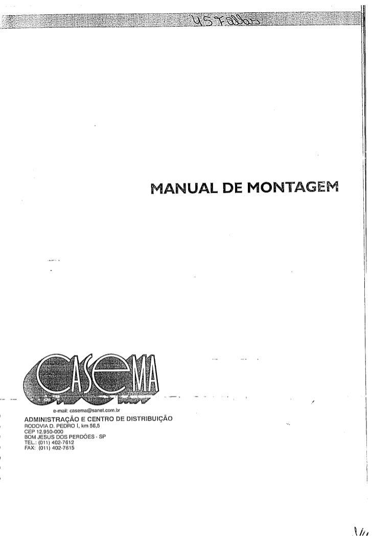 Manual de montagem
