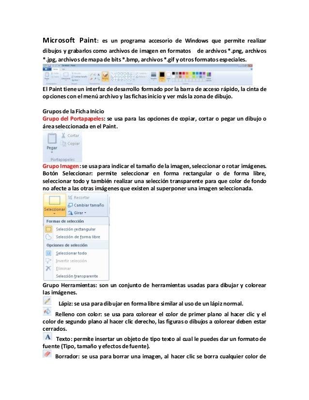 Manual de MSPAINT