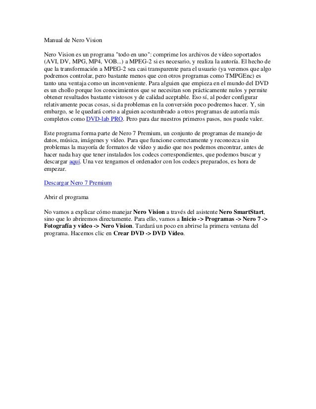 manual de nero vision rh es slideshare net Simone Inzaghi David Del Valle Garcia