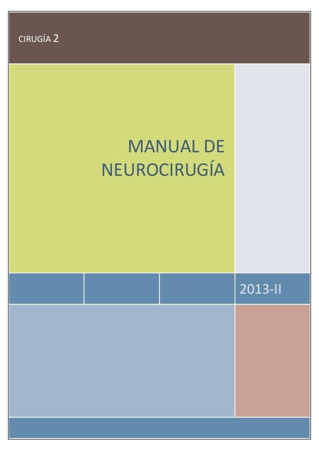 CIRUGÍA 2 2013-II MANUAL DE NEUROCIRUGÍA