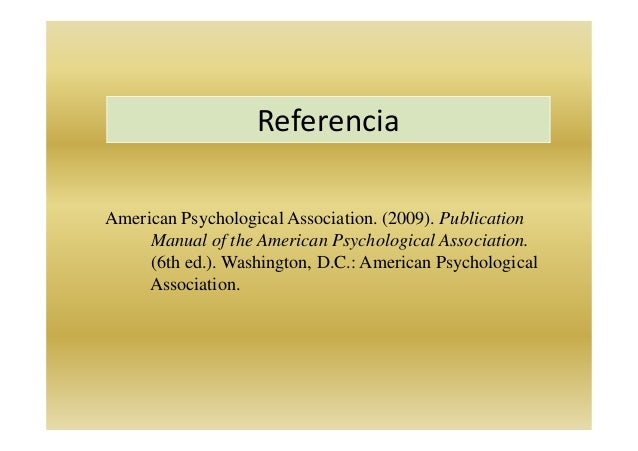 publication manual of the american psychological association 2009
