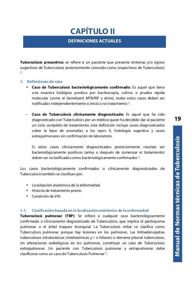 Manual de normas tecnicas en tuberculosis 2017