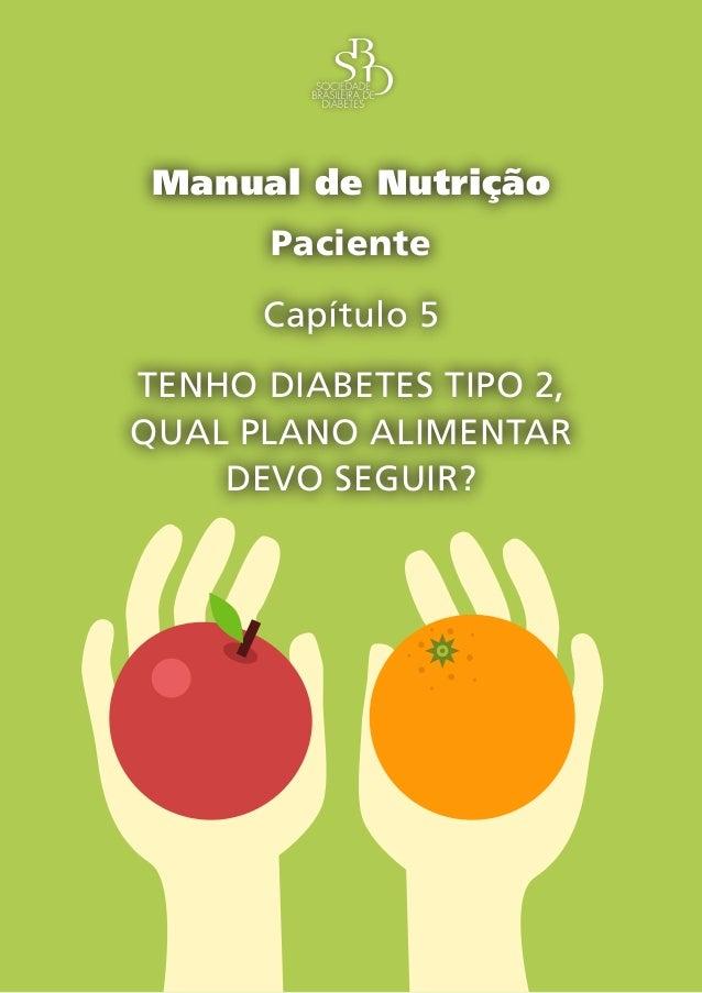 Capítulo 5 – Tenho diabetes tipo 2, qual plano alimentar devo seguir? – 1 Manual de Nutrição Paciente Capítulo 5 TENHO DIA...