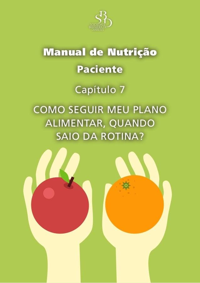 Capítulo 7 – Como Seguir Meu Plano Alimentar, Quando Saio da Rotina? – 1 Manual de Nutrição Paciente Capítulo 7 COMO SEGUI...