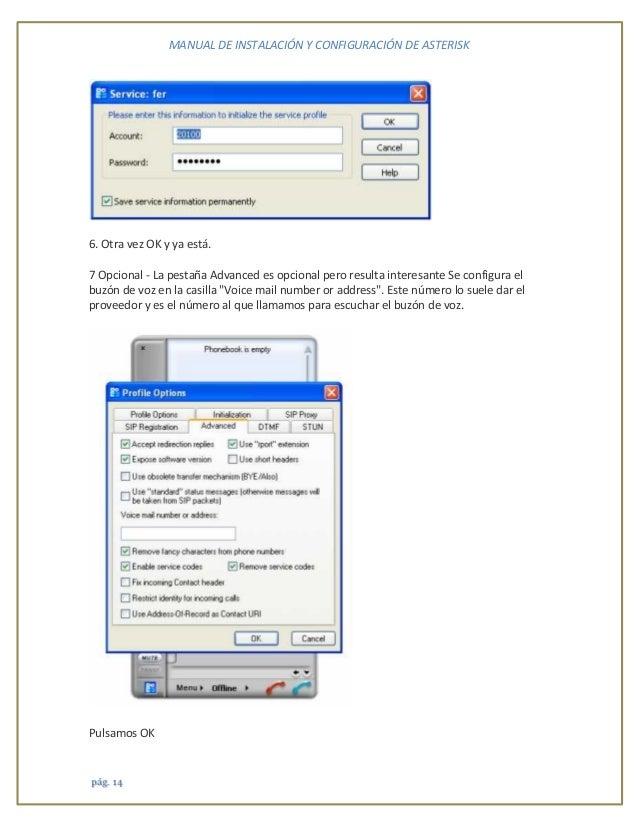Manual de operación Asterisk en windows