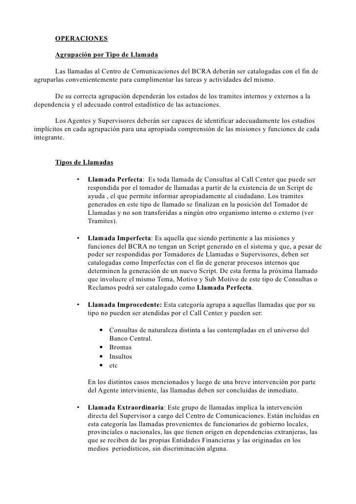 manual de operaciones call center bcra rh es slideshare net manual de capacitacion call center manual de call center pdf