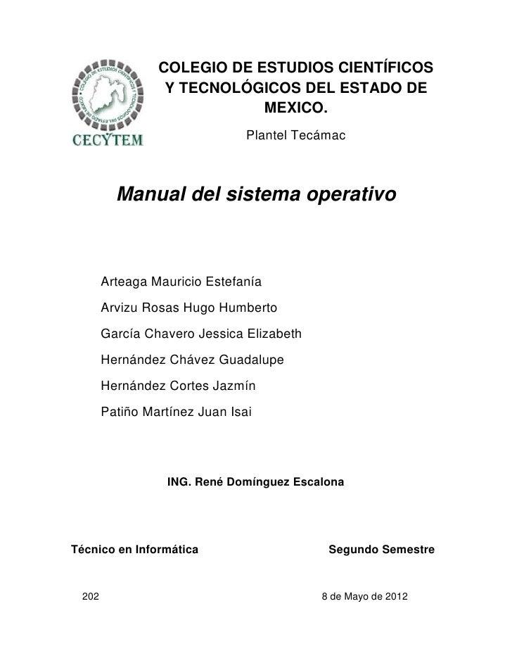 COLEGIO DE ESTUDIOS CIENTÍFICOS                 Y TECNOLÓGICOS DEL ESTADO DE                            MEXICO.           ...