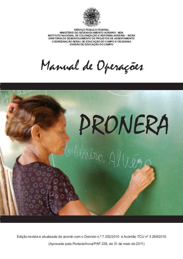 SERVIÇO PÚBLICO FEDERAL MINISTÉRIO DO DESENVOLVIMENTO AGRÁRIO - MDA INSTITUTO NACIONAL DE COLONIZAÇÃO E REFORMA AGRÁRIA – ...