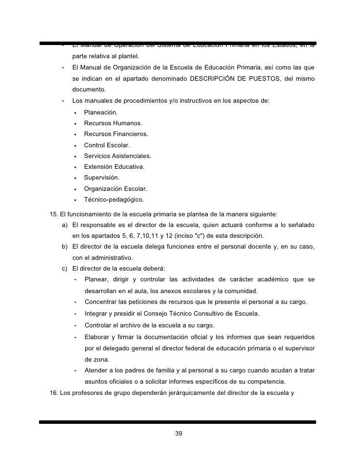 manual de organizaci n de la escuela de educaci n primaria rh es slideshare net Un Manual De Procedimientos De Un Procedimiento manual de procedimientos para escuelas primarias