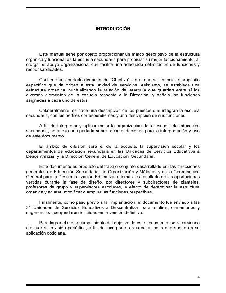 Manual de organizacion de la escuela de educ secundaria for Proyecto cafeteria escolar