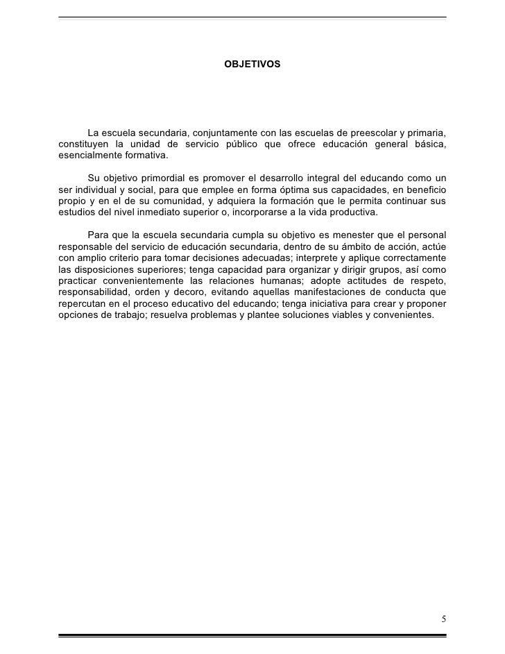 Manual de organizacion de la escuela de educ. secundaria