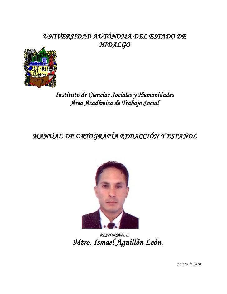 UNIVERSIDAD AUTÓNOMA DEL ESTADO DE               HIDALGO     Instituto de Ciencias Sociales y Humanidades           Área A...