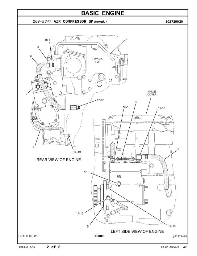 Cat C15 Acert Engine Diagram Intake Cat C15 Alternator
