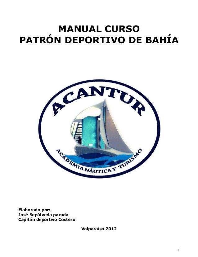 Manual de patrónn deportivo de bahía