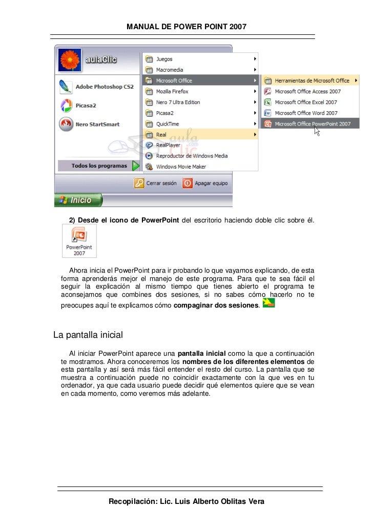 Manual de powerpoint 2007 Slide 2