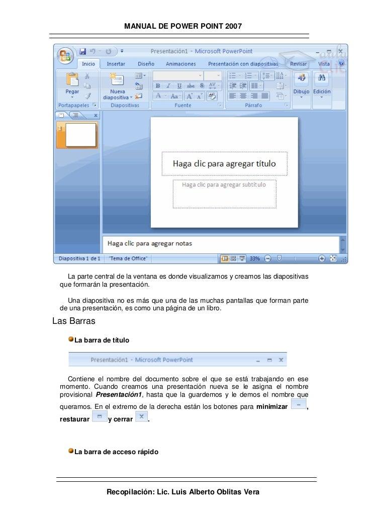 Manual de powerpoint 2007 Slide 3