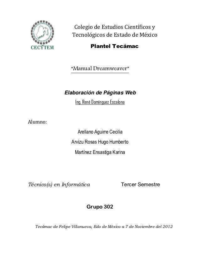 Colegio de Estudios Científicos y                     Tecnológicos de Estado de México                               Plant...