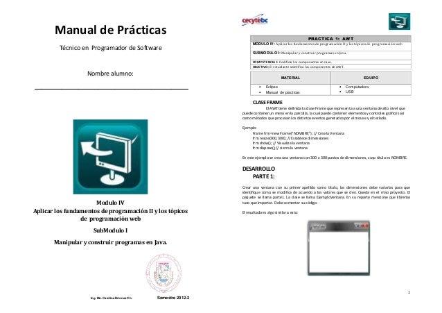 Manual de Prácticas                                                                                    PRACTICA 1: AWT    ...
