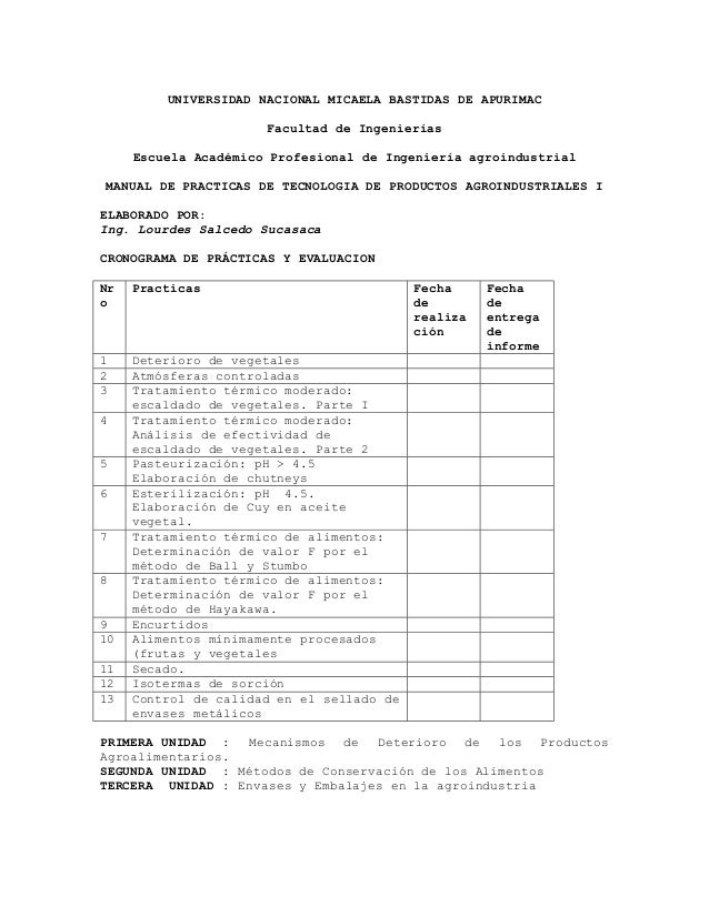 UNIVERSIDAD NACIONAL MICAELA BASTIDAS DE APURIMAC                      Facultad de Ingenierías     Escuela Académico Profe...