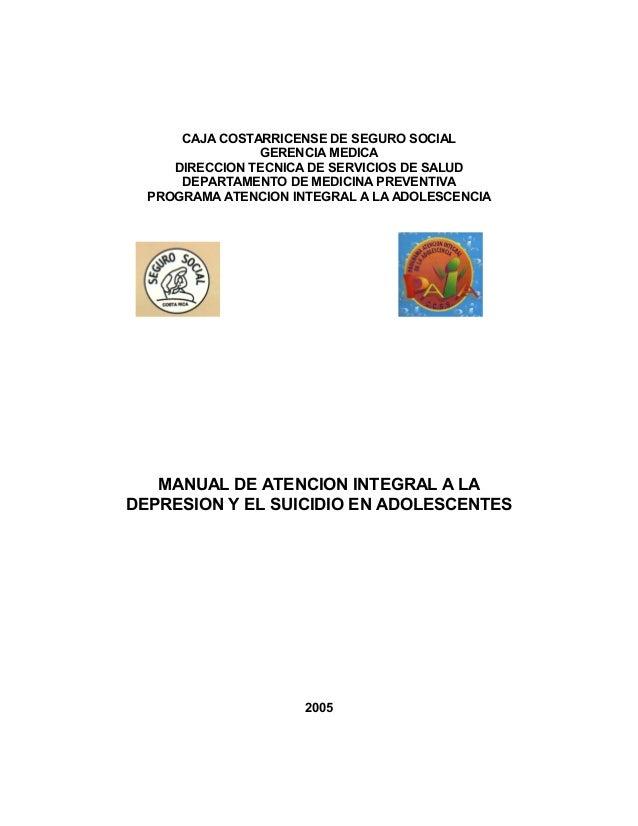 CAJA COSTARRICENSE DE SEGURO SOCIAL                GERENCIA MEDICA     DIRECCION TECNICA DE SERVICIOS DE SALUD      DEPART...