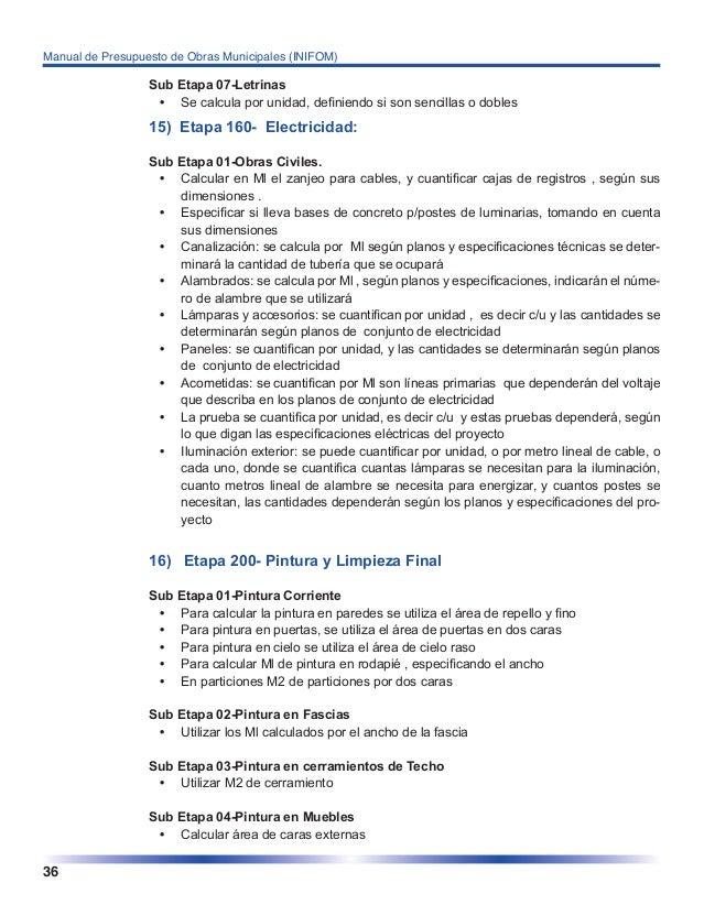 Manual de presupuesto obras municipales - Presupuesto para pintar ...