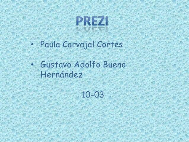 • Paula Carvajal Cortes • Gustavo Adolfo Bueno Hernández 10-03