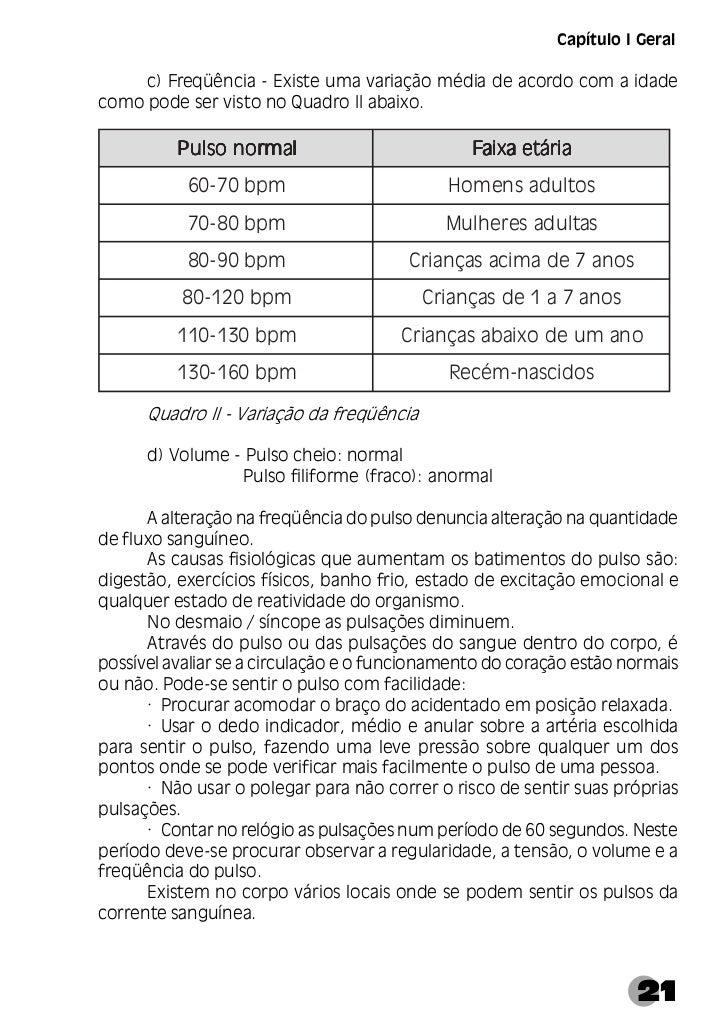 Manual de Primeiros Socorros○ ○ ○ ○ ○ ○ ○ ○ ○ ○ ○ ○ ○ ○ ○ ○ ○ ○ ○ ○  Recomenda-se não fazer pressão forte sobre a artéria,...