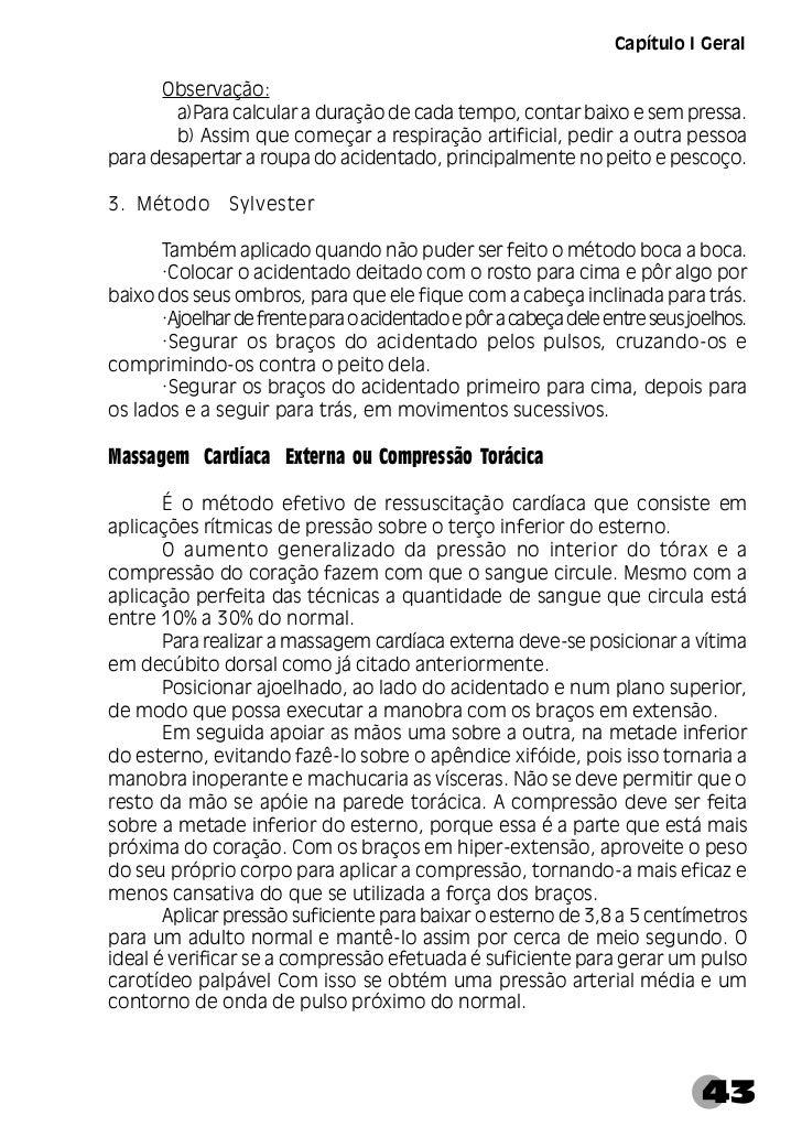 Manual de Primeiros Socorros     Figura 7 - Técnica de massagem cardíaca externa44