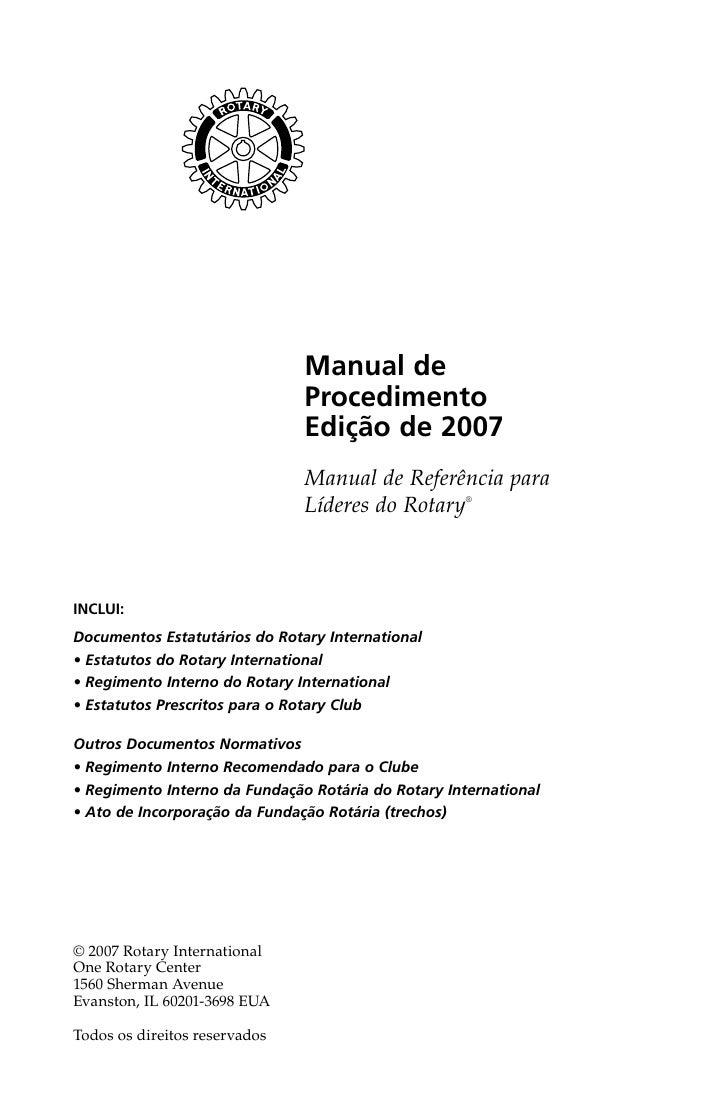 Manual de procedimentos rotary 2007