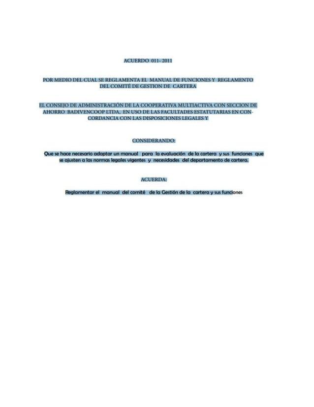 Manual de procedimiento de cobranza