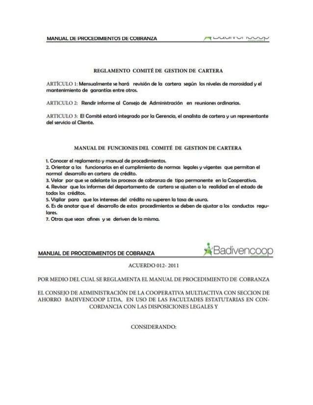 Manual de procedimiento de cobranza Slide 2