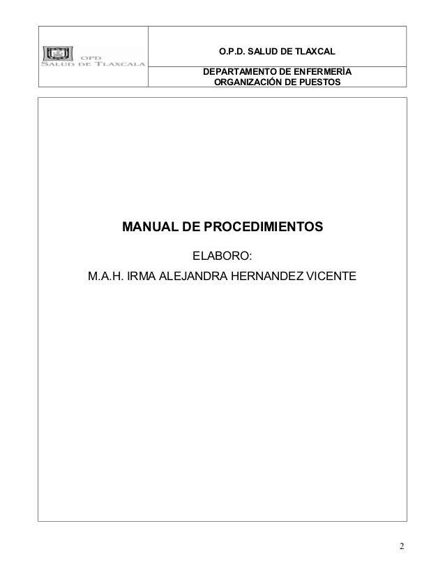 Manual de procedimiento enfermeria Slide 2