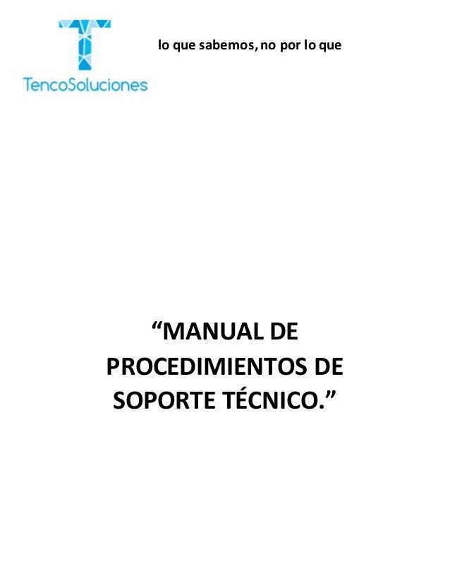 Manual de procedimiento gissel