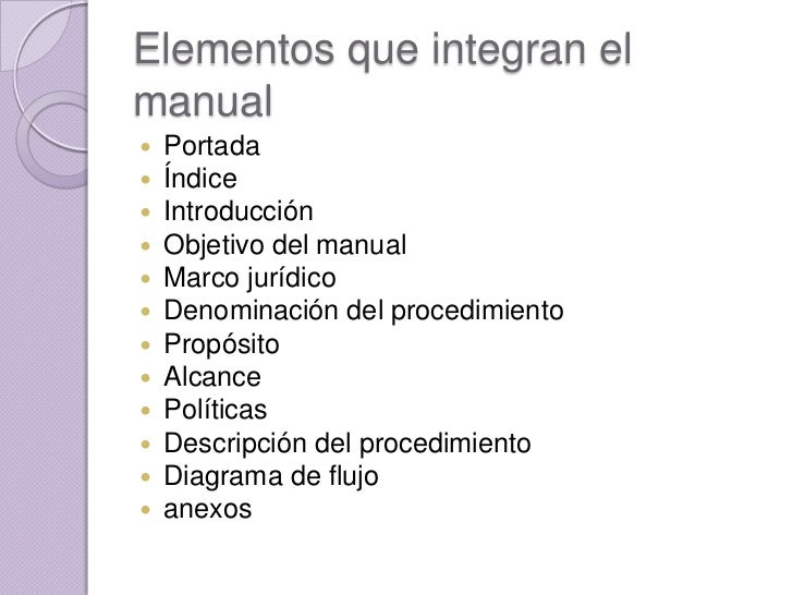Manual de procedimientos for Manual de funciones de un restaurante pdf
