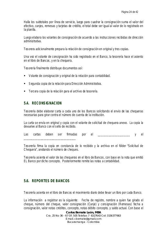Manual de procedimientos administrativos y operativos de for Solicitud de chequera