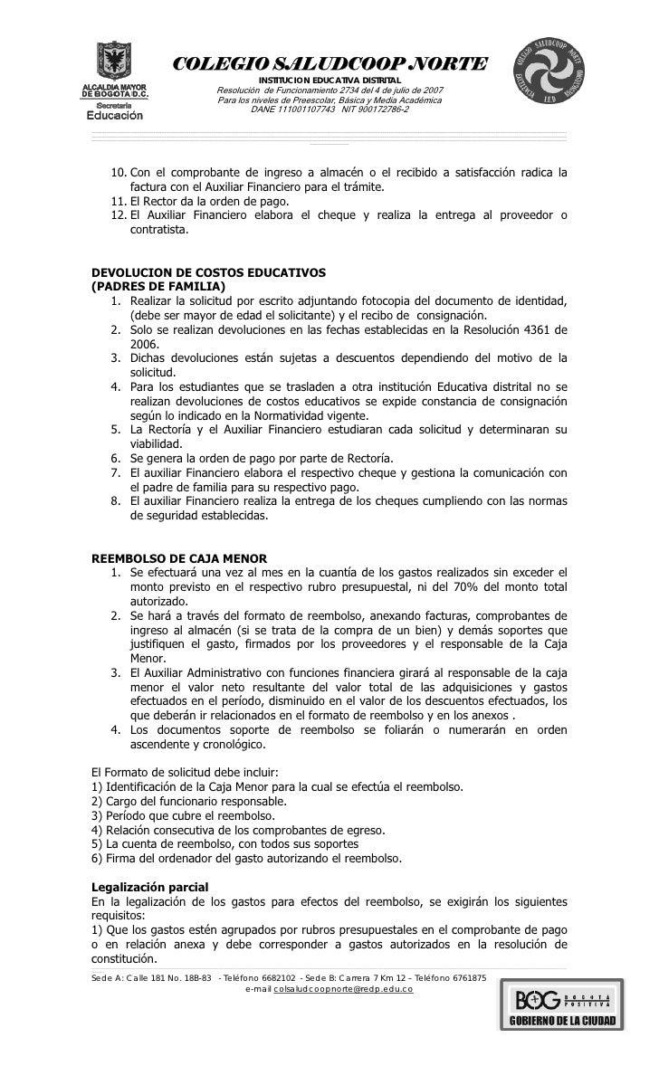 Manual De Procedimientos Auxiliar Financiero
