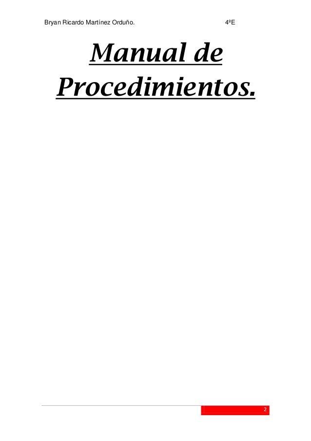 Manual de Procedimientos Bryan Martinez