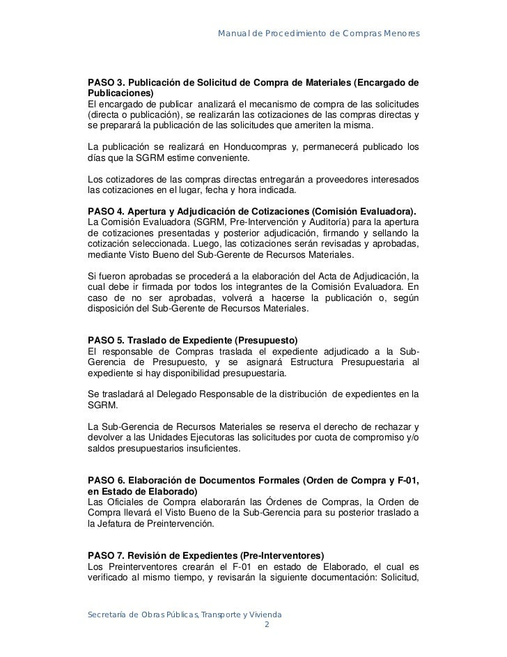 Manual de procedimientos de compras y licitaciones 05 02.