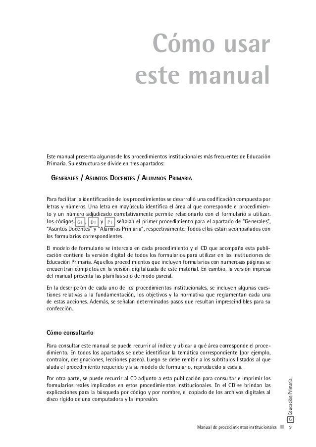 manual de procedimientos del nivel primario rh es slideshare net manual de procedimientos primaria cd manual de procedimientos para escuelas primarias