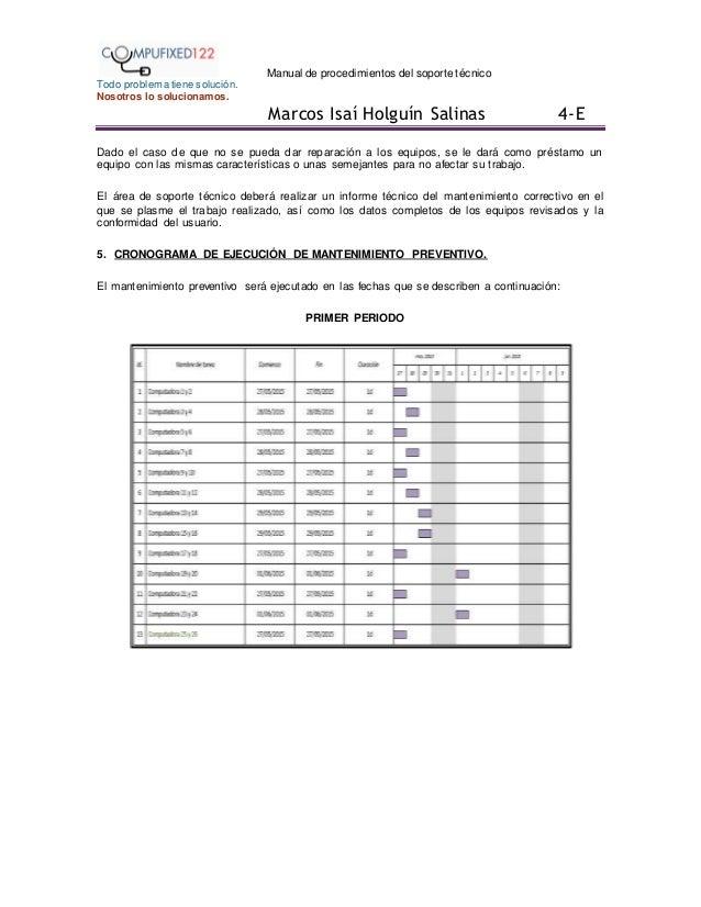 Manual de procedimientos soporte tecnico(compufixed122)