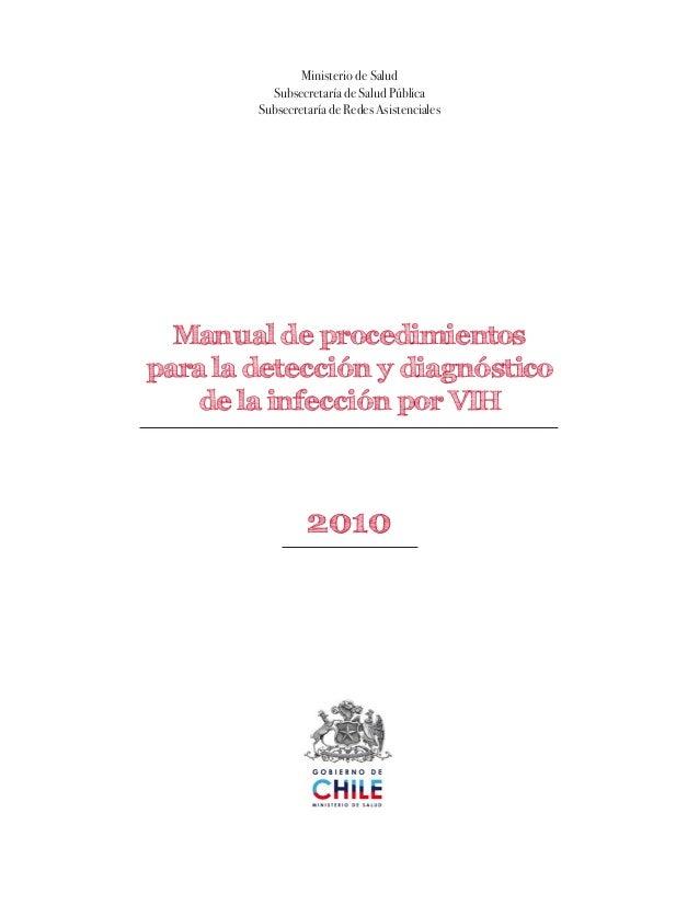 Ministerio de SaludSubsecretaría de Salud PúblicaSubsecretaría de Redes AsistencialesManual de procedimientospara la detec...