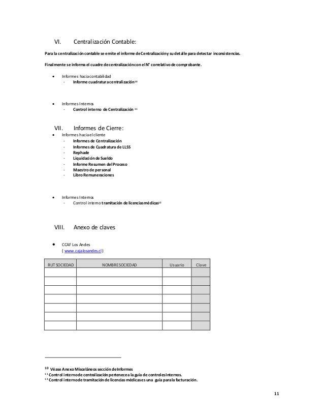 Manual de proceso nomina standard