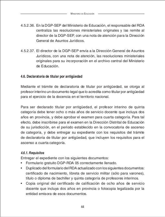 Manual de procesos rda (Registro Docente Administrativo de BOLIVIA)