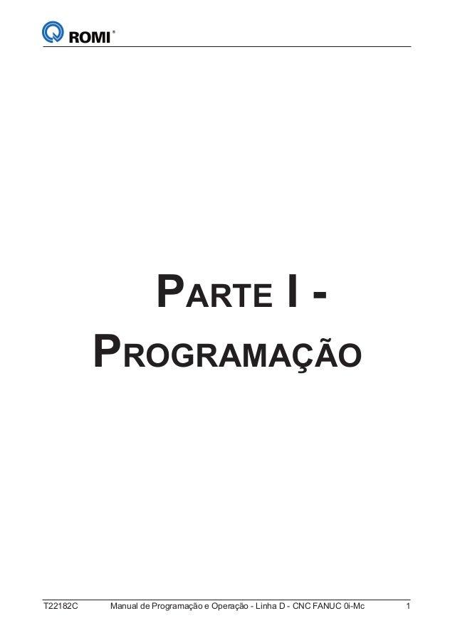 Manual de programação romi