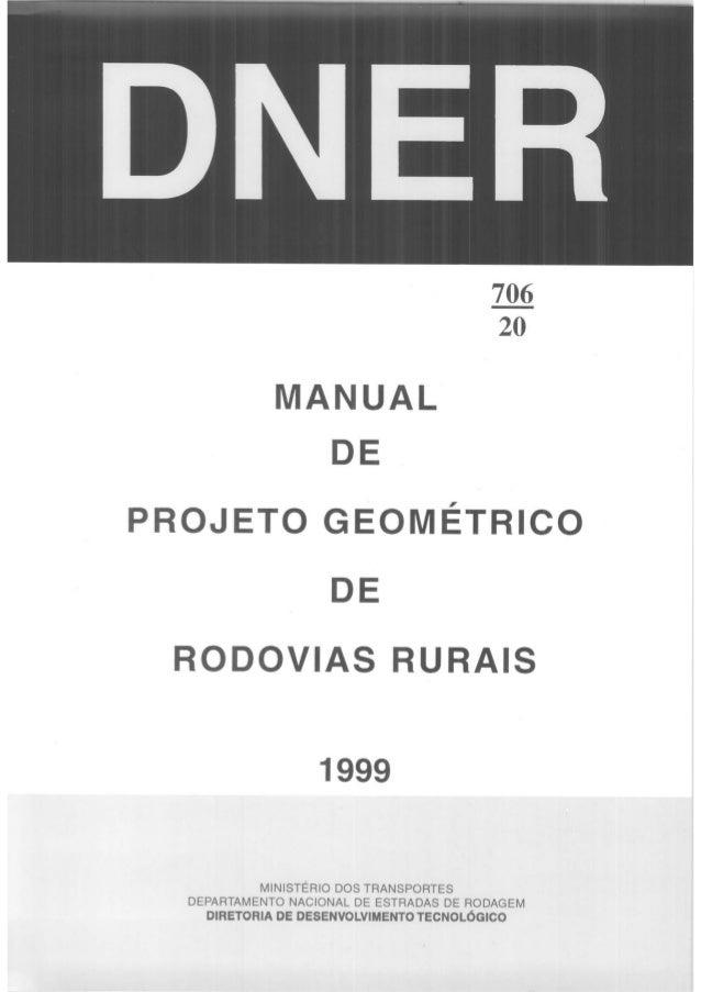 Manual de projeto geométrico